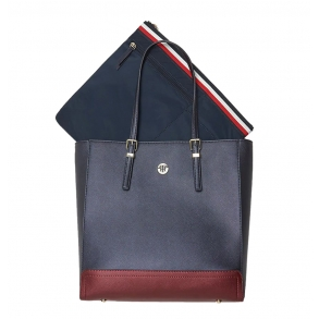 Τσάντα TOMMY HILFIGER 7299 Honey Workbag CB Μπλε
