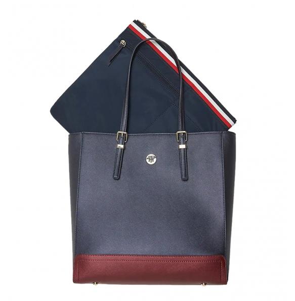 Τσάντα TOMMY HILFIGER 7299 Honey Workbag CB Μπλε