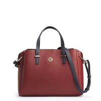 Τσάντα TOMMY HILFIGER 7308 TH Core Satchel Μπορντώ