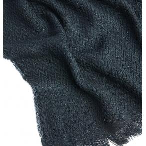 Κασκόλ TOMMY HILFIGER 7530 TH Woven Blanket Γκρι Σκούρο