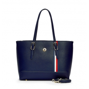 Τσάντα TOMMY HILFIGER 7933 Honey Med Tote Μπλε