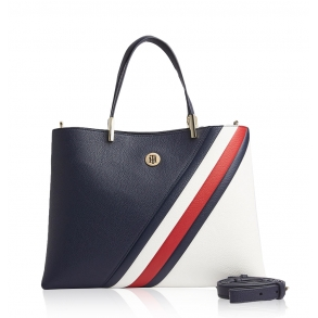 Τσάντα TOMMY HILFIGER 8119 Signature Tape Μπλε