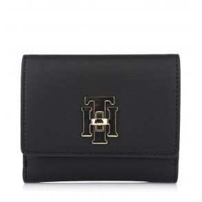 Πορτοφόλι TOMMY HILFIGER 8146 Med TH Lock Flap Μαύρο