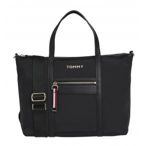Τσάντα TOMMY HILFIGER 8523 Nylon Satchel Μαύρο