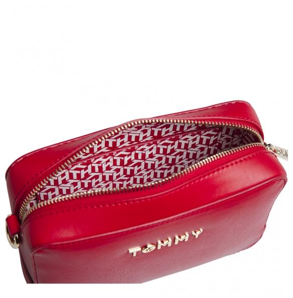 Τσάντα TOMMY HILFIGER 8608 Iconic Tommy  Camera Bag Κόκκινο