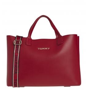 Τσάντα TOMMY HILFIGER 8812 Iconic Tommy Satchel Κόκκινο