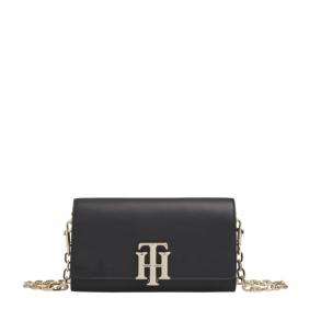 Τσάντα TOMMY HILFIGER 8866 TH Lock Mini Μαύρο