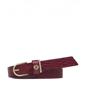 Ζώνη TOMMY HILFIGER 9043 Classic Belt 2.5 Croco Μπορντώ