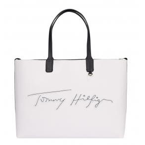 Τσάντα TOMMY HILFIGER 9707 Iconic Tommy Λευκή