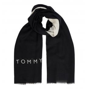 Φουλάρι TOMMY HILFIGER 9778 Μαύρο/Λευκό