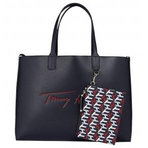 Τσάντα TOMMY HILFIGER 10457 Iconic Signature Μπλε