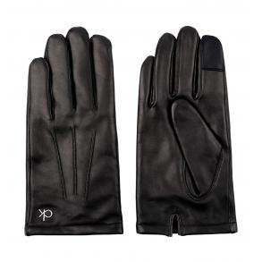 Δερμάτινα γάντια CALVIN KLEIN K50K506078 Μαύρο