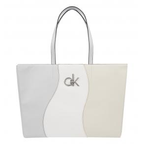 Τσάντα CALVIN KLEIN K60K608065 Λευκό/Μπεζ