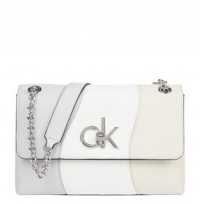 Τσάντα CALVIN KLEIN K60K608066 Λευκό/Μπεζ