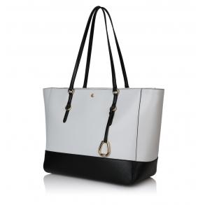 Τσάντα RALPH LAUREN 431796852 Λευκό/Μαύρο