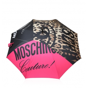 Ομπρέλα MOSCHINO 8850-63 Ροζ/Λεοπάρ Αυτόματη