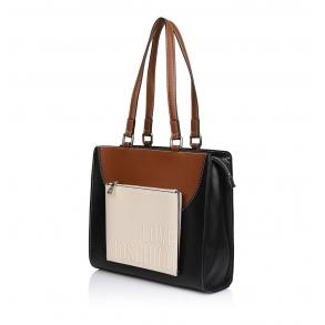 Τσάντα LOVE MOSCHINO 4016 Μαύρο,Καφέ, Μπεζ
