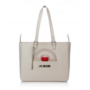 Τσάντα LOVE MOSCHINO 4103 Ιβουάρ