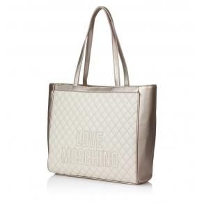 Τσάντα LOVE MOSCHINO 4003 Καπιτονέ Χρυσό/Εκρού