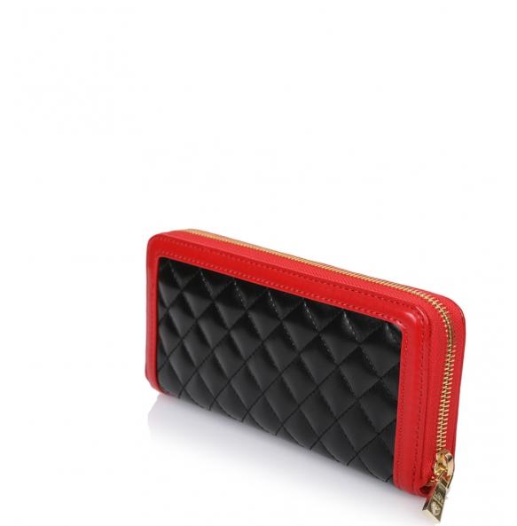Πορτοφόλι Love Moschino 5615 Μαύρο με Κόκκινο