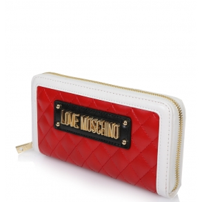 Πορτοφόλι Love Moschino 5615 Λευκό με Κόκκινο