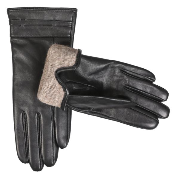 δερμάτινα γάντια ESTET B07 Μαύρο