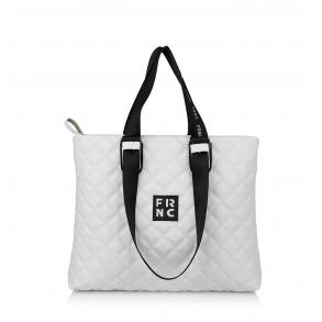 Τσάντα FRNC 1295 Λευκό Καπιτονέ