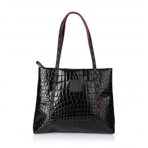 Τσάντα FRNC 1415 Μαύρο Κροκό