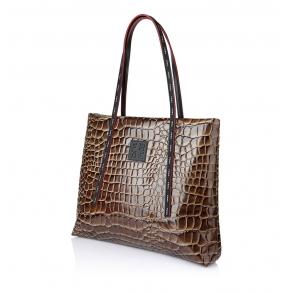 Τσάντα FRNC 1417 Καφέ Κροκό