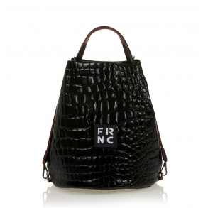 Τσάντα FRNC 1420 Μαύρο Κροκό