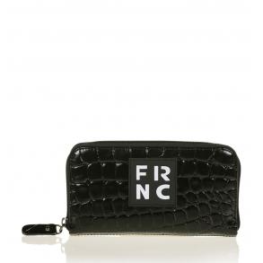 Πορτοφόλι FRNC WAL005 Μαύρο Κροκό