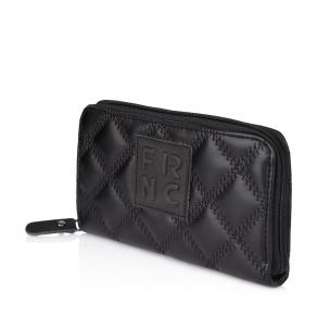 Πορτοφόλι FRNC WAL005K Μαύρο Καπιτονέ