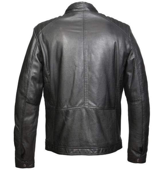 Δερμάτινο μπουφάν DEVERGO 041G176008 Μαύρο
