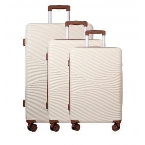 Σετ 3 βαλίτσες RCM 19-015 Μπεζ