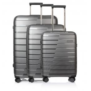 Σετ 3 βαλίτσες TRAVELITE Air Base Ανθρακί