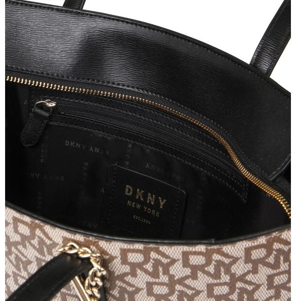 Τσάντα DKNY R74AJ014 Μπεζ/Μαύρο
