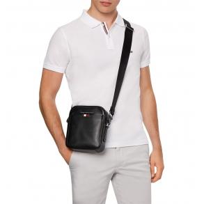 Τσάντα TOMMY HILFIGER 6867 Business Mini Reporter Μαύρο