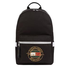 Σακίδιο TOMMY HILFIGER 7575 TH Signature Logo Embroidery Μαύρο