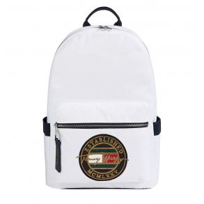 Σακίδιο TOMMY HILFIGER 7575 TH Signature Logo Embroidery Λευκό