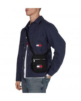 Τσάντα TOMMY HILFIGER 7599 Tjm Heritage Reporter Μαύρο