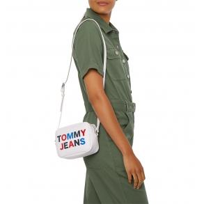 Τσάντα TOMMY JEANS 9853 TJW Tonal Camera Bag Λευκό