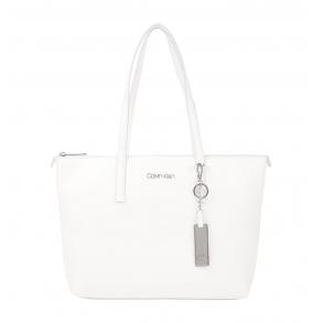 Τσάντα CALVIN KLEIN K60K608283 Λευκό