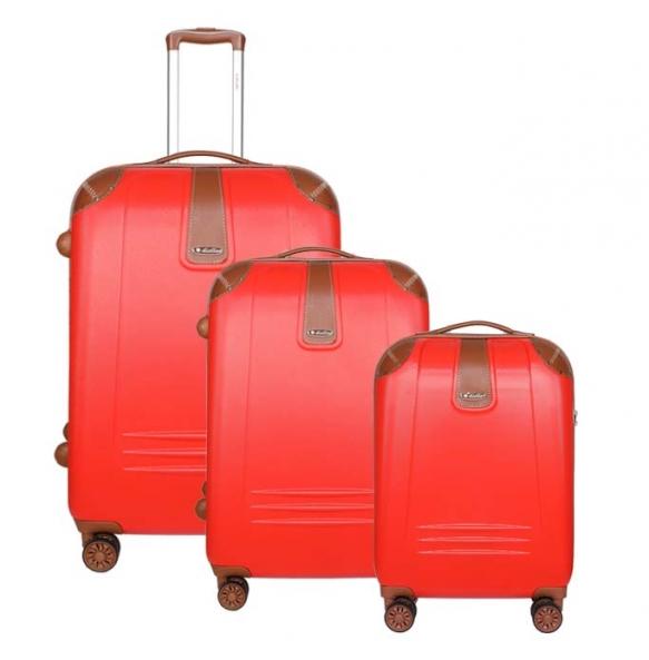 Σετ 3 βαλίτσες DIELLE 155 Κόκκινο